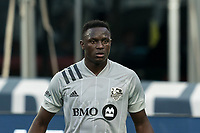 FOXBOROUGH, MA - SEPTEMBER 23: Victor Wanyama #2 of Montreal Impact on field portrait during a game between Montreal Impact and New England Revolution at Gillette Stadium on September 23, 2020 in Foxborough, Massachusetts.