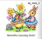 EASTER, OSTERN, PASCUA, paintings+++++,KL4585/3,#e#, EVERYDAY ,rabbit,rabbits ,sticker,stickers,