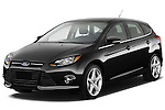 Front three quarter view of a 2012 Ford Focus Hatchback Titanium Stock Photo