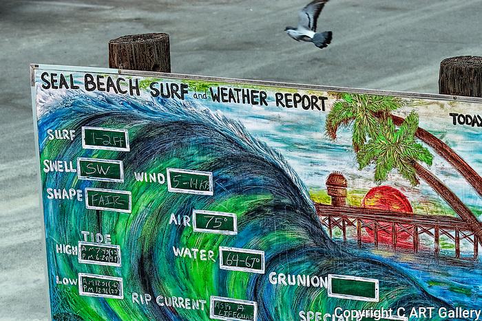 Sign, Seal Beach, CA.