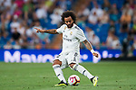 Marcelo Vieira Da Silva of Real Madrid in action during the La Liga 2018-19 match between Real Madrid and Getafe CF at Estadio Santiago Bernabeu on August 19 2018 in Madrid, Spain. Photo by Diego Souto / Power Sport Images
