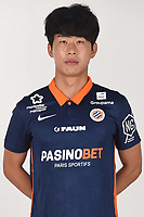 14th October 2020, Montpellier, France; Official League 1 player portraits for Montpellier FC;  24. YUN Il-Lok