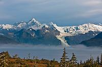 Mt Gilbert,  Chugach mountains, Cascade glacier, Chugach National Forest, Prince William Sound, southcentral, Alaska.