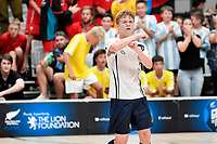 Ry McLead of Tauranga Boys College celebrates after he scores during the NZ Secondary Schools Senior Boys Final between Wellington College and Tauranga Boys' College at ASB Sports Centre, Wellington on 26 March 2021.<br /> Copyright photo: Masanori Udagawa /  www.photosport.nz