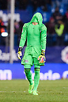 Goalkeeper Sergio Alvarez Conde of RC Celta de Vigo reacts during their La Liga match between Atletico de Madrid and RC Celta de Vigo at the Vicente Calderón Stadium on 12 February 2017 in Madrid, Spain. Photo by Diego Gonzalez Souto / Power Sport Images