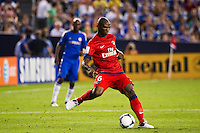 Zoumana Camara (6) of Paris Saint-Germain. Chelsea FC and Paris Saint-Germain played to a 1-1 tie during a 2012 Herbalife World Football Challenge match at Yankee Stadium in New York, NY, on July 22, 2012.