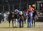 Game On Dude , ridden by jockey Chantal Sutherland and trained by Bob Baffert finish second in the  Breeders' Cup Classic at Churchill Downs on  November 4, 2011..