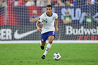 5th September 2021; Nashville, TN, USA;  United States midfielder Tyler Adams breaks on the ball during a CONCACAF World Cup qualifying match between the United States and Canada on September 5, 2021 at Nissan Stadium in Nashville, TN.
