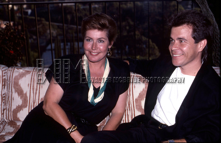 Helen Reddy and husband Milton Ruth attend a Private Party Hosted by Dale Olsen on August 25, 1988 at the Home of Dale Olsen in Los Angeles, California.
