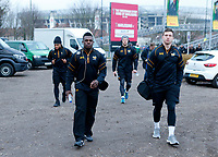Photo: Richard Lane/Richard Lane Photography. Harlequins v Wasps.  European Rugby Champions Cup. 13/01/2018. Wasps' Christian Wade arrives at The Stoop ahead of his 150th Wasps game.