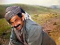 Iraq 1982 .<br /> Sheikh Jaffar in Qara Dagh.This photo was found in 1991 in the Iraqi security files with his name , his position as commander of peshmergas  .<br /> Irak 1982 .<br /> Sheikh Jaffar dans le Qara Dagh. Cette photo a ete retrouvee en 1991 dans les archives de la securite irakienne avec son nom et son role de commandant dans la lutte armee