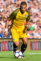 Liam Rosenior of Brighton & Hove Albion (23)  during the pre season friendly match between Brighton and Hove Albion and Atletico Madrid at the American Express Community Stadium, Brighton and Hove, England on 6 August 2017. Photo by Edward Thomas / PRiME Media Images.