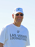 Sept. 16, 2009; Casa Grande, AZ, USA; Las Vegas Locomotives executive Bill Hambrecht during training camp at the Casa Grande Training Facility & Performance Institute. Mandatory Credit: Mark J. Rebilas-