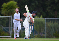 Fraser Colson bats during day two of the provincial cricket match between Wellington A and Central Districts A at Kelburn Park in Wellington, New Zealand on Tuesday, 16 March 2021. Photo: Dave Lintott / lintottphoto.co.nz