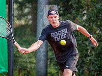 Hilversum, The Netherlands,  August 20, 2021,  Tulip Tennis Center, NKS, National Senior Tennis Championships, Men's single 45+, Rogier Eijking (NED)<br /> Photo: Tennisimages/Henk Koster