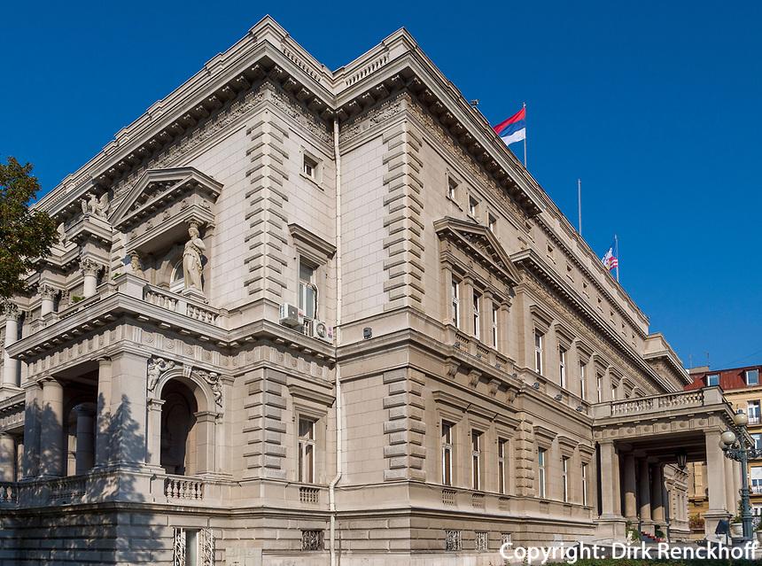 Rathaus Altes Palais - Stari Dvor, Belgrad, Serbien, Europa<br /> City Hall Old Palais- Stari Dvor, Belgrade, Serbia, Europe