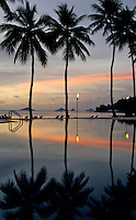 THE POOL REFLECTION AT SUNSET, PALAU, MICRONESIA