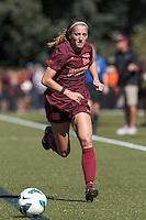 Virginia Tech forward Nicolette Young (28).Virginia Tech (maroon) defeated Boston College (white), 1-0, at Newton Soccer Field, on September 22, 2013.