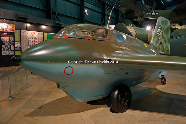 """Messerschmitt Me 163B """"Komet"""" on display at the National Museum of the United States Air Force, Dayton, Ohio, USA"""