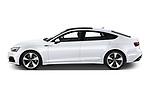 Car Driver side profile view of a 2021 Audi A5-Sportback Design 5 Door Hatchback Side View