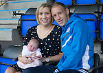 St Johnstone v Hearts...03.08.14  Steven Anderson Testimonial<br /> Steven Anderson pictured with his wife Sarah and 12 day old daughter Freya<br /> Picture by Graeme Hart.<br /> Copyright Perthshire Picture Agency<br /> Tel: 01738 623350  Mobile: 07990 594431