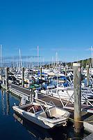 Boats docked in Saquatucket Harbor, Harwich, Cape Cod, MA