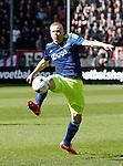 Nederland, Utrecht, 5 april 2015<br /> Eredivisie<br /> Seizoen 2014-2015<br /> FC Utrecht-Ajax (1-1)<br /> Kolbeinn Sigthorsson van Ajax in actie met bal