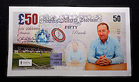 Pictured: Huw Jenkins chairman £50 currency note<br /> Re: Swansea City FC Christmas party at the Liberty Stadium, south Wales, UK.