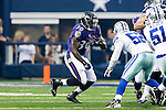Baltimore Ravens running back Bernard Pierce (30) in action during the pre-season game between the Baltimore Ravens and the Dallas Cowboys at the AT & T stadium in Arlington, Texas. The Ravens lead Dallas 24 to 10 at half time.