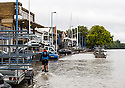 31/08/15<br /> <br /> The River Thames breaks its banks in Putney, London on Embankment, marking a very wet end to the August bank holiday weekend.<br /> <br /> <br /> All Rights Reserved - F Stop Press. www.fstoppress.com. Tel: +44 (0)1335 418365 +44(0)7765 242650