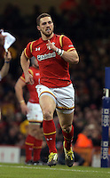 George North of Wales during the Wales v France, 2016 RBS 6 Nations Championship, at the Principality Stadium, Cardiff, Wales, UK