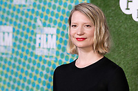 "Mia Wasikovska<br /> arriving for the ""Judy and Punch"" london Film Festival 2019 screening at Embankment Gardens, London<br /> <br /> ©Ash Knotek  D3523 12/10/2019"