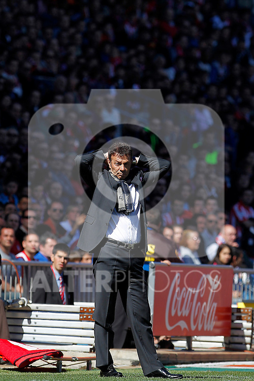 Granada's coach Abel Resino during La Liga match.March 11,2012. (ALTERPHOTOS/Acero)