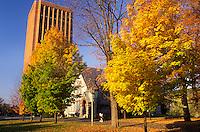 Amherst, college, university, MA, Massachusetts, University of Massachusetts Amherst campus in Amherst in the autumn.
