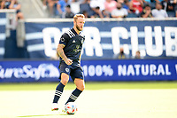 KANSAS CITY, KS - JUNE 26: Johnny Russell #7 Sporting KC with the ball during a game between Los Angeles FC and Sporting Kansas City at Children's Mercy Park on June 26, 2021 in Kansas City, Kansas.