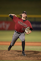 AZL Diamondbacks relief pitcher Jake Polancic (21) delivers a pitch during an Arizona League game against the AZL Cubs 1 at Sloan Park on June 18, 2018 in Mesa, Arizona. AZL Diamondbacks defeated AZL Cubs 1 7-0. (Zachary Lucy/Four Seam Images)