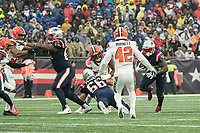 FOXBOROUGH, MA - OCTOBER 27:  during a game between Cleveland Browns and New Enlgand Patriots at Gillettes on October 27, 2019 in Foxborough, Massachusetts.