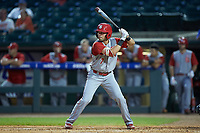Stephen Pitarra (7) of the North Carolina State Wolfpack at bat against the North Carolina Tar Heels in Game Twelve of the 2017 ACC Baseball Championship at Louisville Slugger Field on May 26, 2017 in Louisville, Kentucky. The Tar Heels defeated the Wolfpack 12-4. (Brian Westerholt/Four Seam Images)