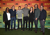 "LOS ANGELES, CA - NOVEMBER 18:  Kim Harrison, Chris Long, Stephen Dorff, Brian Van Holt, Yara Martinez, David Ayer, and John Coveny attend the advanced screening for Fox's ""Deputy"" at James Blakeley Theater on the Fox Studio Lot on November 18, 2019 in Los Angeles, California. on November 13, 2019 in Los Angeles, California. (Photo by Frank Micelotta/Fox/PictureGroup)"