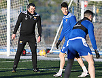 St Johnstone Training…. 29.12.20<br />Manager Callum Davidson pictured during training at McDiarmid Park this morning ahead of tomorrows game against Hamilton<br />Picture by Graeme Hart.<br />Copyright Perthshire Picture Agency<br />Tel: 01738 623350  Mobile: 07990 594431