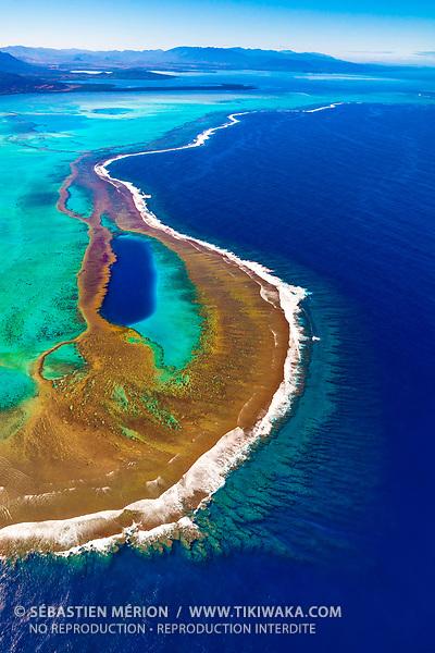 Trou Bleu à Oundjo, Grand Récif de Koné, Nouvelle-Calédonie