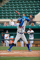 St. Lucie Mets Hansel Moreno (9) during a Florida State League game against the Lakeland Flying Tigers on April 24, 2019 at Publix Field at Joker Marchant Stadium in Lakeland, Florida.  Lakeland defeated St. Lucie 10-4.  (Mike Janes/Four Seam Images)