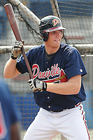 July 15, 2009: Outfielder Robbie Hefflinger (33) of the Danville Braves, rookie Appalachian League affiliate of the Atlanta Braves, before a game at Dan Daniel Memorial Park in Danville, Va. Photo by:  Tom Priddy/Four Seam Images