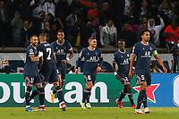 28th September 2021, Parc des Princes, Paris, France: Champions league football, Paris-Saint-Germain versus Manchester City:  Goal celebrations from Idrissa Gueye (PSG)