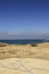 Remains of a Byzantine Church in Caesarea National Park on Israel's central Mediterranean coast