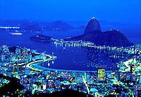 Morro do Pão de Açucar e enseada de Botafogo. Rio de Janeiro. 1998. Foto de Juca Martins.