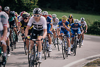 Fernando Gaviria (COL/Quick-Step Floors) ready to jump the curb ahead<br /> <br /> Stage 5: Lorient > Quimper (203km)<br /> <br /> 105th Tour de France 2018<br /> ©kramon