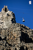 Table Mountain Cable car (Licence this image exclusively with Getty: http://www.gettyimages.com/detail/94433123 )