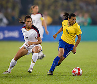 Shannon Boxx, Marta. The USWNT defeated Brazil, 1-0, to win the gold medal during the 2008 Beijing Olympics at Workers' Stadium in Beijing, China.