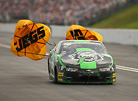 Jun 17, 2017; Bristol, TN, USA; NHRA pro stock driver Alex Laughlin during qualifying for the Thunder Valley Nationals at Bristol Dragway. Mandatory Credit: Mark J. Rebilas-USA TODAY Sports
